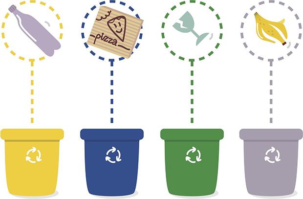 colores reciclaje